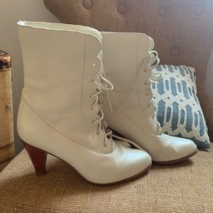 White Vintage Booties